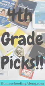 4th grade curriculum picks